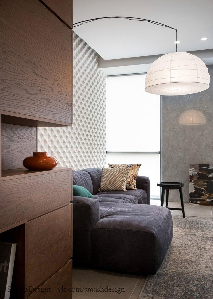 3д панели в интерьере квартиры