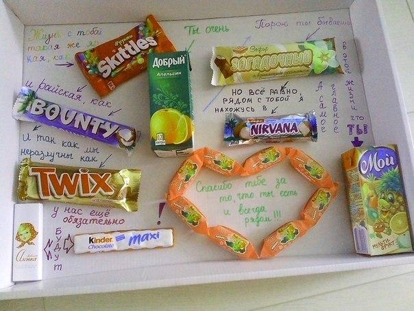 Как сделать плакат с шоколадками и надписями своими руками