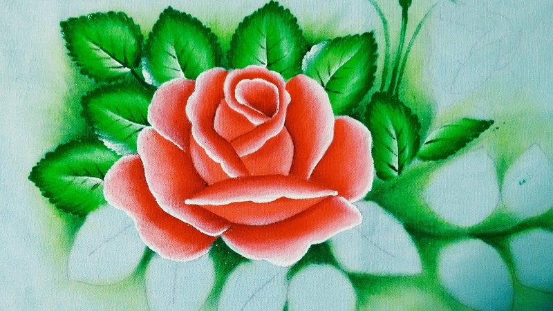 Ensinando a pintar rosas com Lia Ribeiro