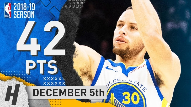 Stephen Curry EPIC Highlights Warriors vs Cavaliers 2018 12 05 42 Pts 9 THREES