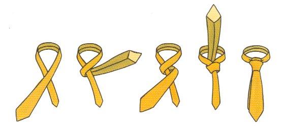 Как завязать галстук схема самое
