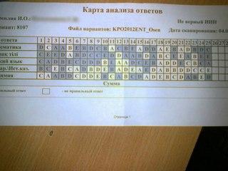 ответы на тесты ент 2011года