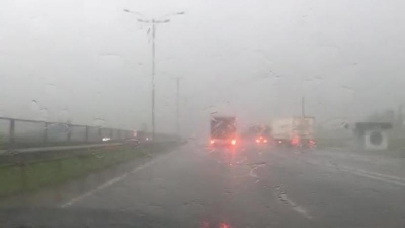 Трасса Е-95: Одесса-Киев (проливной дождь и град)