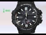 Таймер обратного отсчёта времени на G-Shock GW-A1000