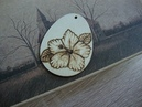 How to wood burn pendant - Hibiscus flower