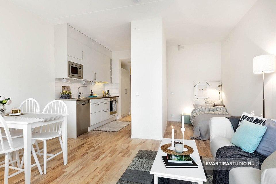 Новая квартира-студия 35 м с большим балконом в Мёльндале / Швеция - http://kvartirastudio.