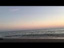 Чёрное море. Вечер. Пляж. Адлер. июль 2018