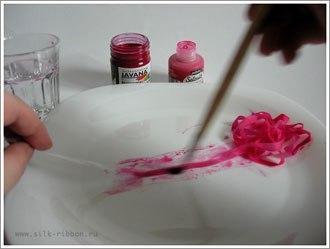 Чем красить ленты для вышивки 84
