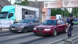 Audi S4 Quattro 2.2t 20v vs BMW 540i E39 4.4 Twinturbo 18 mile drag race