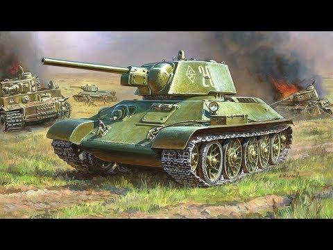 WoT Т-34 и СУ-85 Курская Битва Черное небо победы