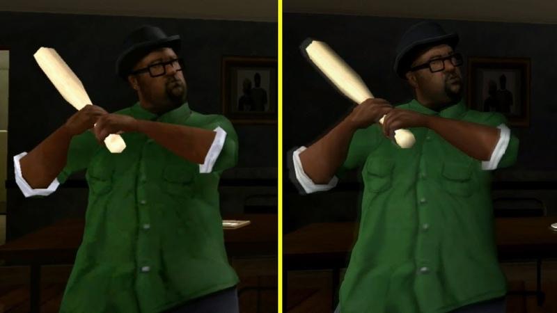 Grand Theft Auto San Andreas Xbox One X vs PS4 Pro Graphics Comparison