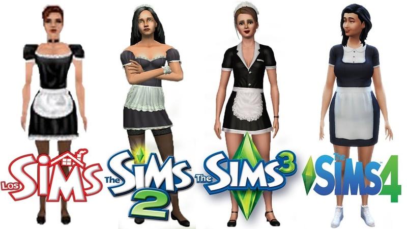 ♦ Sims 1 vs Sims 2 vs Sims 3 vs Sims 4 Maids