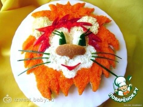 Оформление салатов для детей на день рождения