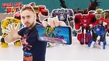 Папа РОБ и ТРАНСФОРМЕРЫ играют в приложение Transformers Robots In Disguise