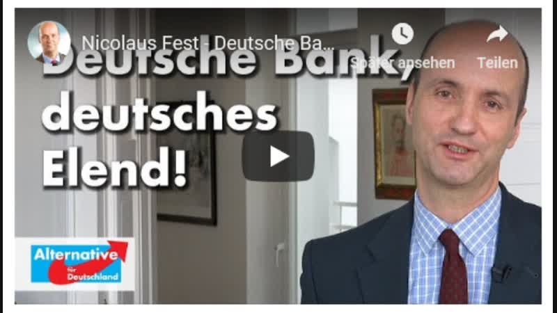 Nicolaus Fest - Deutsche Bank, deutsches Elend
