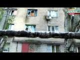 02 10 2014 ДНР  Донецк  Школа и жилой сектор после обстрела