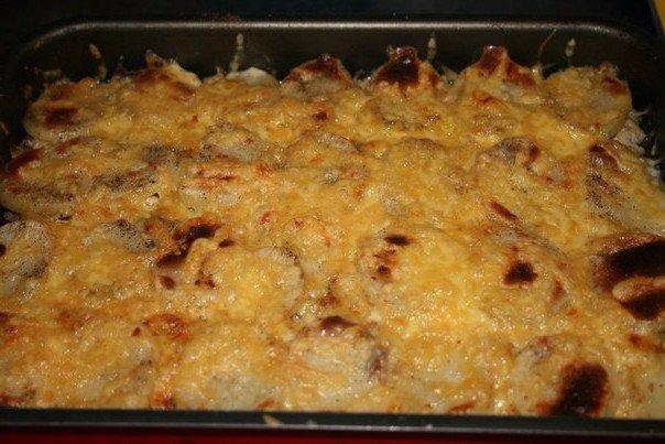 Грибы с фаршем рецепт в духовке