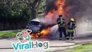 Toyota RAV4 Bursts into Flames || ViralHog