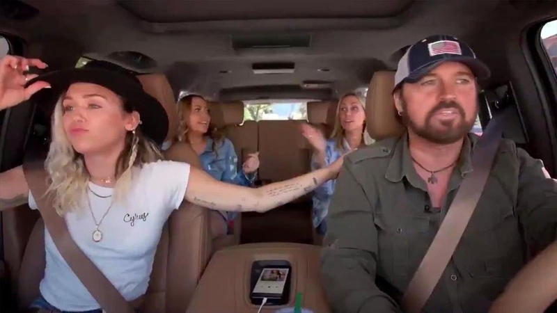Miley, Noah and Billy Ray Do Carpool Karaoke With the Whole Cyrus Family -- Watch!