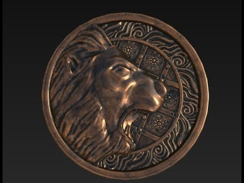 Resident Evil 2 - Lion Medallion Game Asset - Part 1