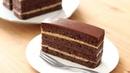 Японский шоколадно- кофейный торт с бисквитом Джоконда, кофейно- масляным кремом, шоколадным ганашом и глазурью / オペラ風チョコケーキの作り方 Chocolate Coff