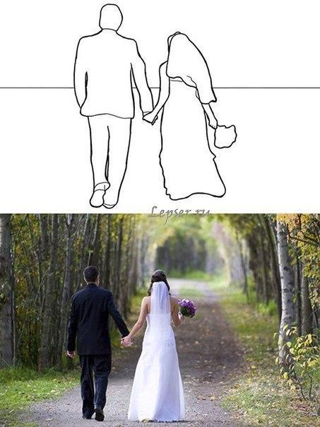 Позы для свадебной фотосессии.