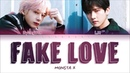 MONSTA X (I.M HYUNGWON) - FAKE LOVE (COVER) LYRICS (Color Coded Eng)