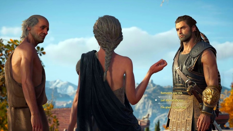 Assassin's Creed Odyssey - Alexios satisfy A Couple Cutscene / Age Is Just A Number Mission