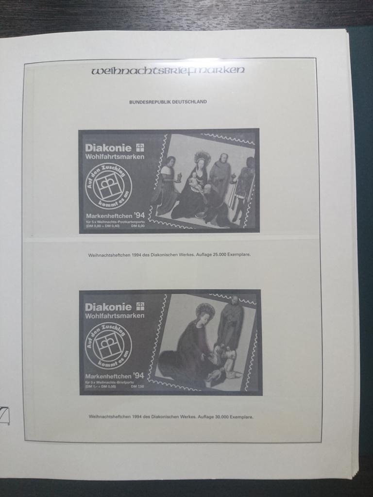 иллюстрированные альбом для марок 3 штуки рождество на марках с