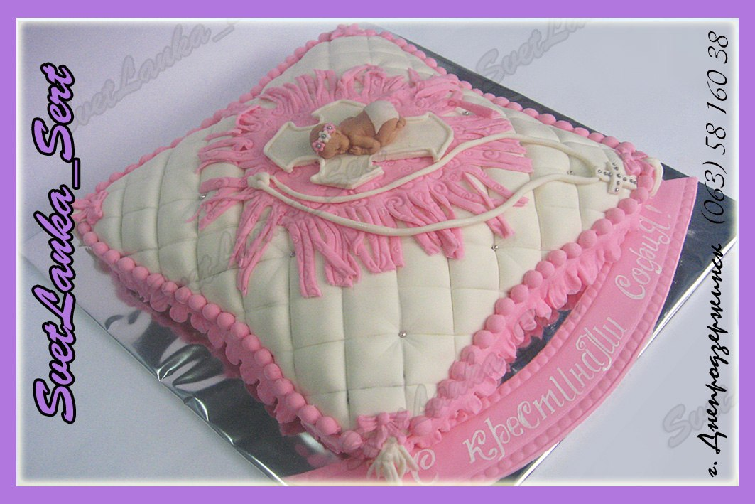 торт подушка для крестин рецепт с фото