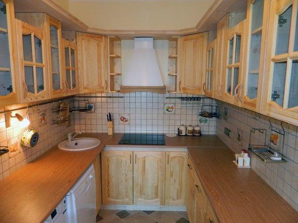 Кухонный гарнитур из мебельных щитов своими руками
