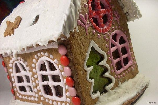 Пряничный домик в домашних условиях рецепт с фото
