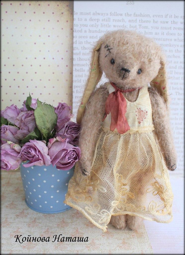 мастер-класс по зайцу в стили мишка Тедди