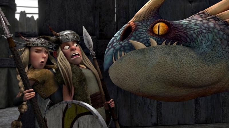 Вторая тренировка Викингов на арене против Злобного Змеевика Как приручить дракона 2010