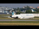 Air disaster McDonell-Douglas MD-83 plane crash in Kyiv Airport (Zhuliany) footage captures