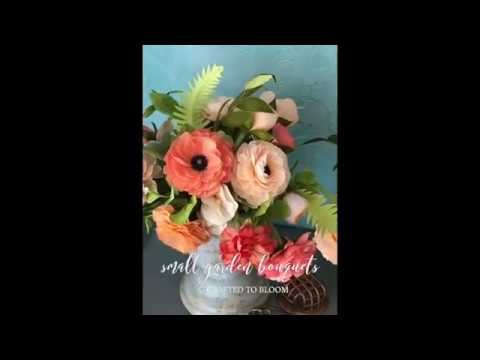 CRAFTED TO BLOOM'S Peach Small Garden Bouquets