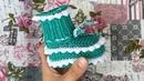 Пинетки с зубчиками для новорожденного на двух спицах \ Вязаные пинетки спицами