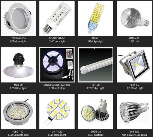 лампы светодиодные LED T8, R50, A55.