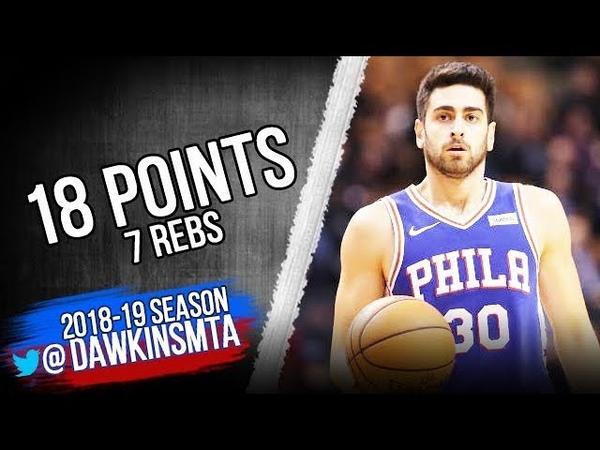 Furkan Korkmaz Full Highlights 2018.12.10 76ers vs Pistons - 18 Pts, 7 Rebs!   FreeDawkins