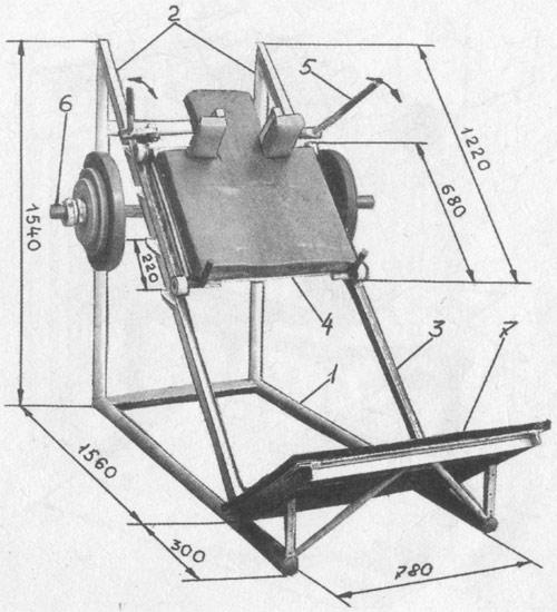Тренажёр для жима ногами своими руками чертежи