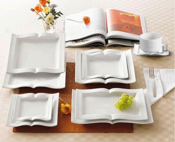 Тарелки в виде книг (1 фото) - картинка