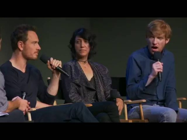 Michael Fassbender Domhnall Gleeson and Carla Azar Frank Interview