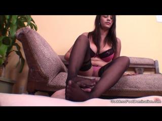 Goddess Jamie - Goddessfootdomination.Com - Goddess Jamie Sticky Stockings