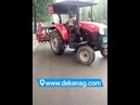 Farm tractor with wheat planter