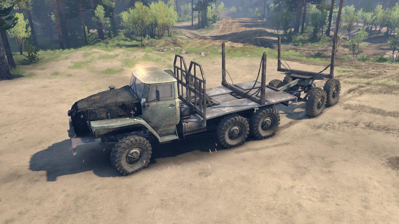 Урал 4320 с активным роспуском для Spintires - Скриншот 2
