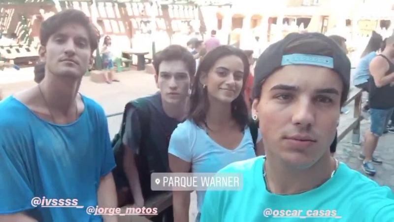 Оскар с друзьями в парке Уорнер, Мадрид_1