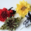 Канзаши,цветы из ткани готовые и на заказ.