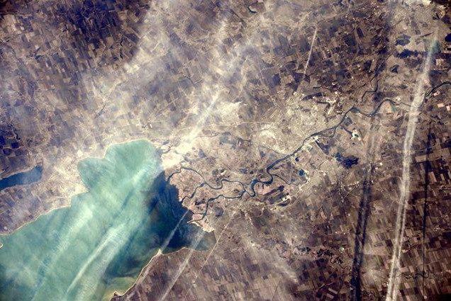 Астронавт Samantha Cristoforetti сфотографировала Таганрог и Ростов из космоса