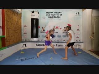 MMA GIRLS - Evnika Saadvakass and he sister getting their speed on