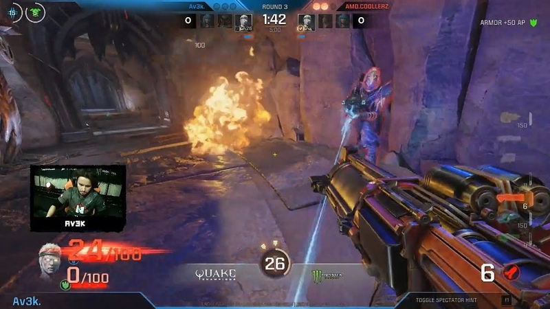 Av3k vs. COOLLERZ (1/2 play-off, DreamHack Winter 2018) – Quake Champions